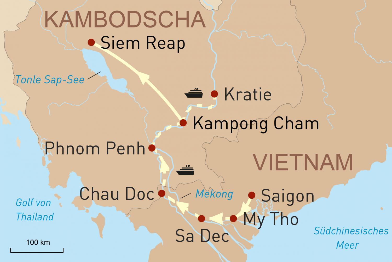 Vietnam & Kambodscha mit exklusiver Flusskreuzfahrt: Perlen des Mekong