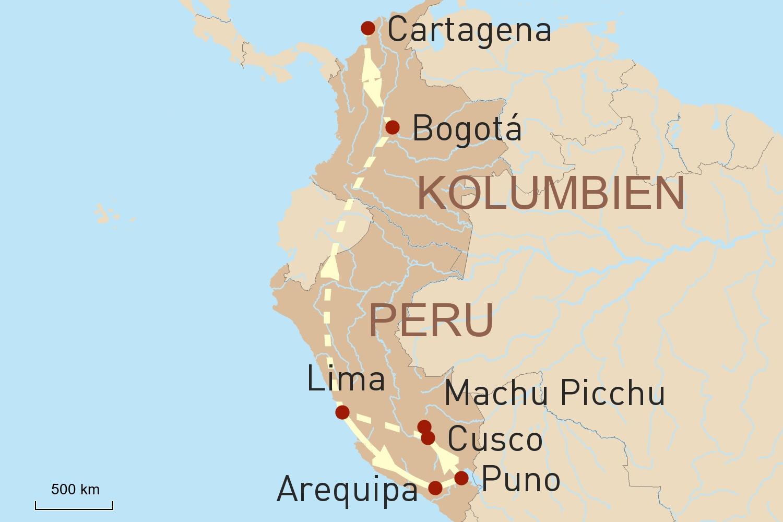 Peru und Kolumbien - Gegensätze Lateinamerikas