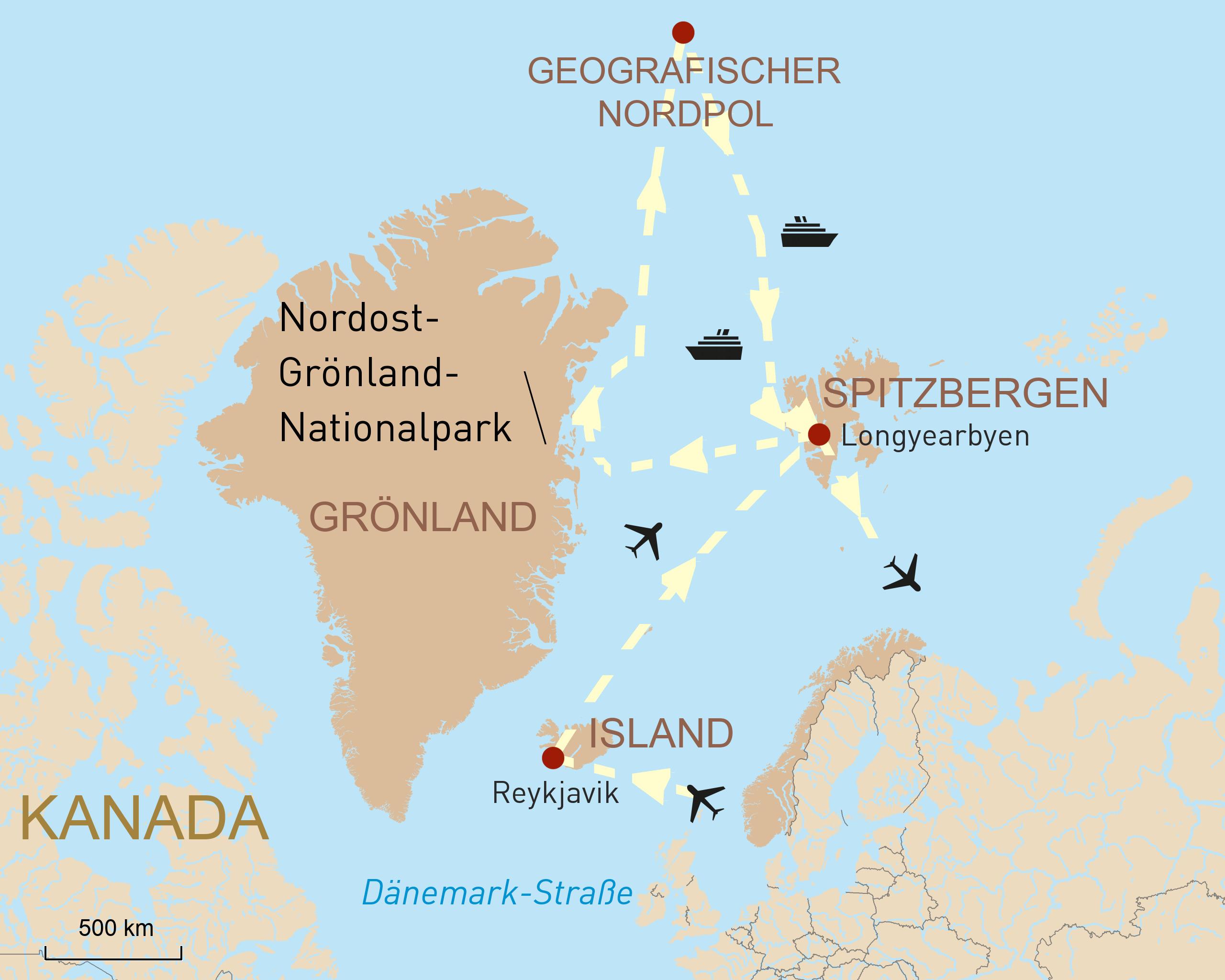 Polarexpedition zum Geographischen Nordpol