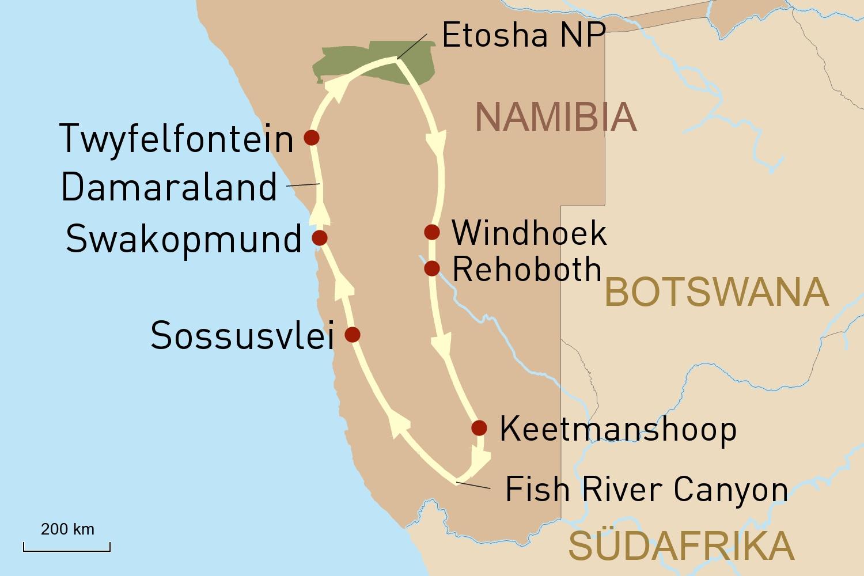 Privatreise Namibia