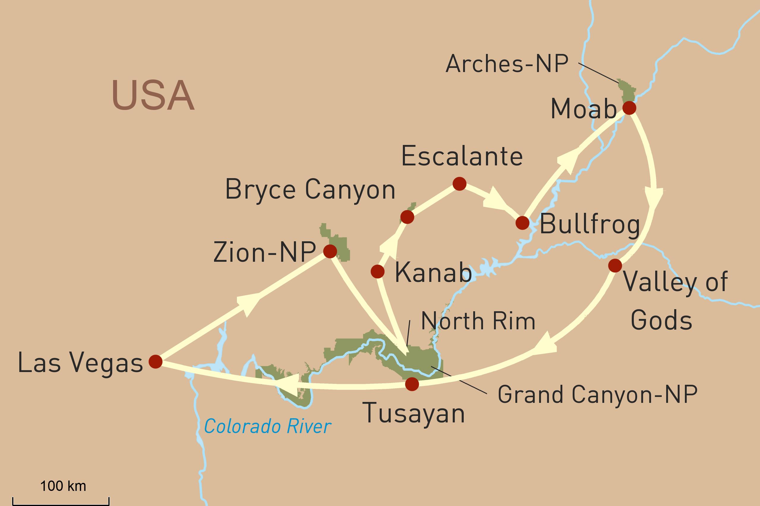 Privatrundreise zu den Canyons der USA
