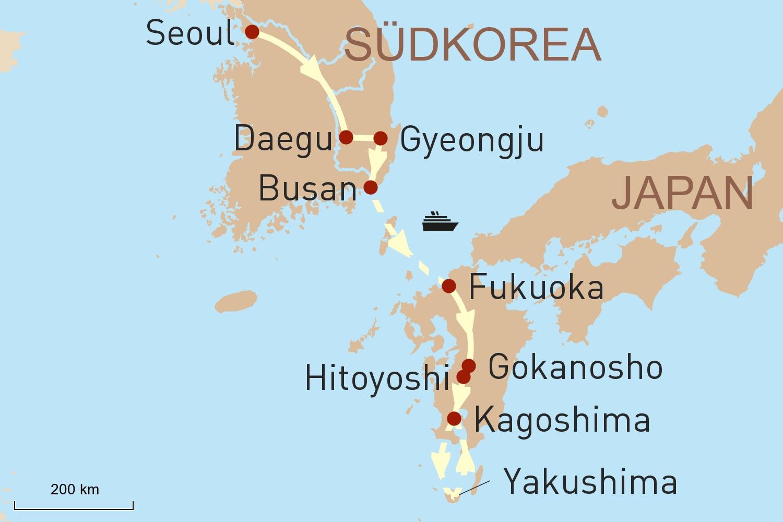 Reise nach Südkorea & Kyushu - Kulturschätze und Naturwunder