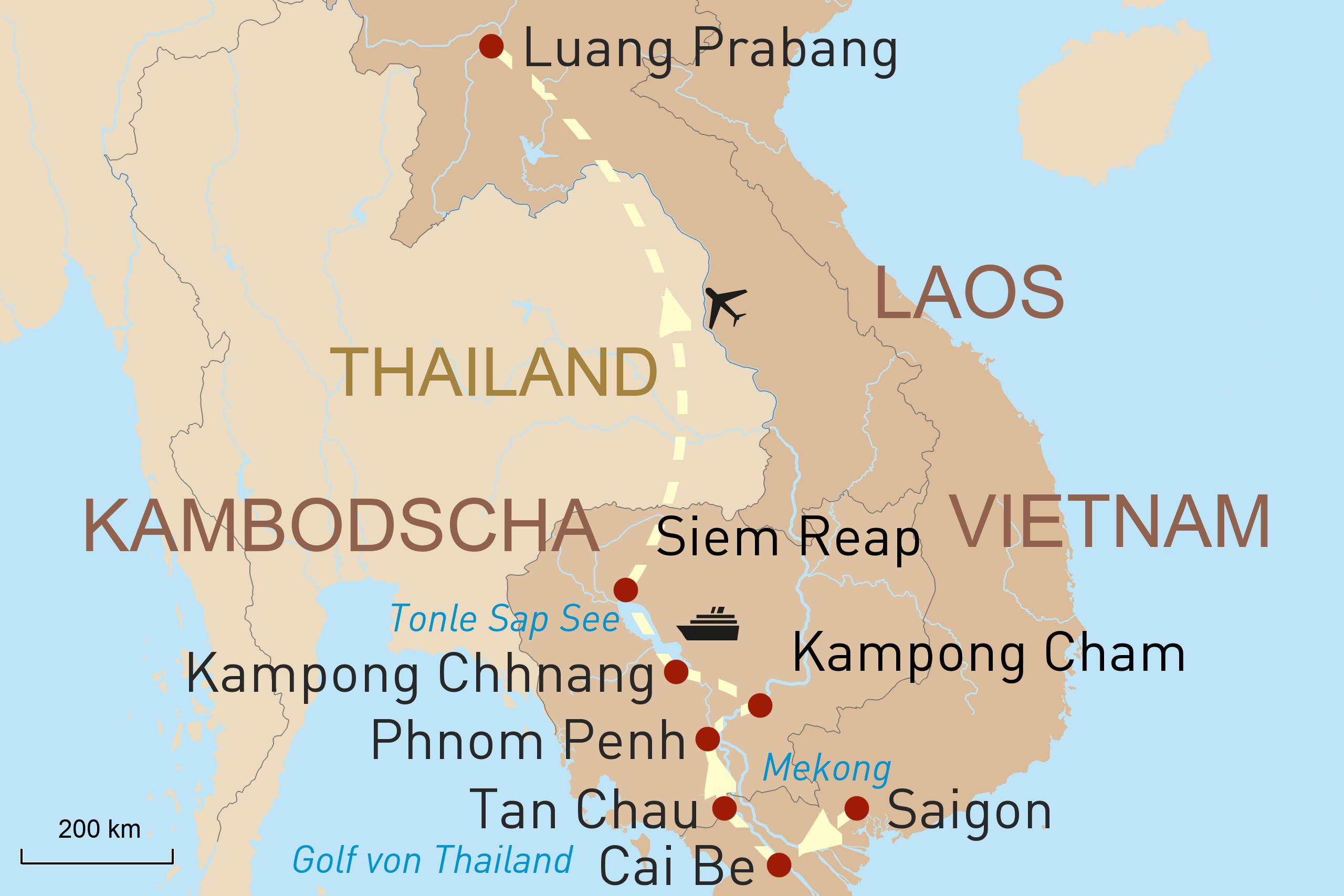 Vietnam, Kambodscha & Laos: Perlen des Mekong und Luang Prabang