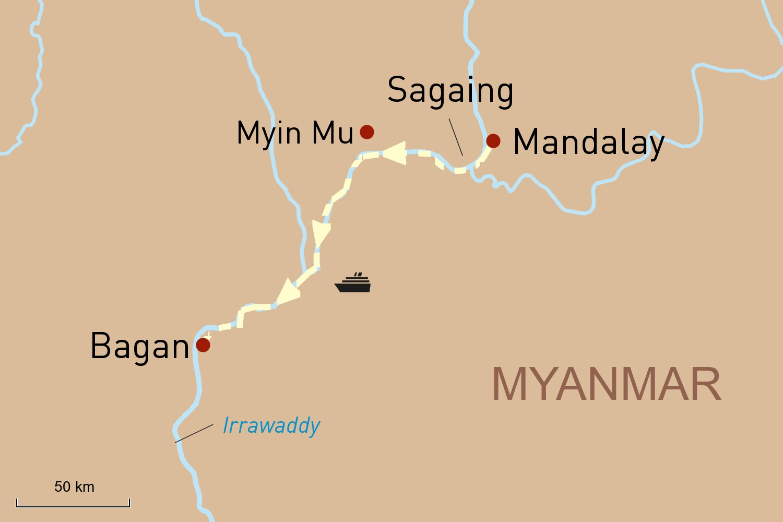 Flusskreuzfahrt in Myanmar auf der Belmond Road to Mandalay: Von Mandalay nach Bagan