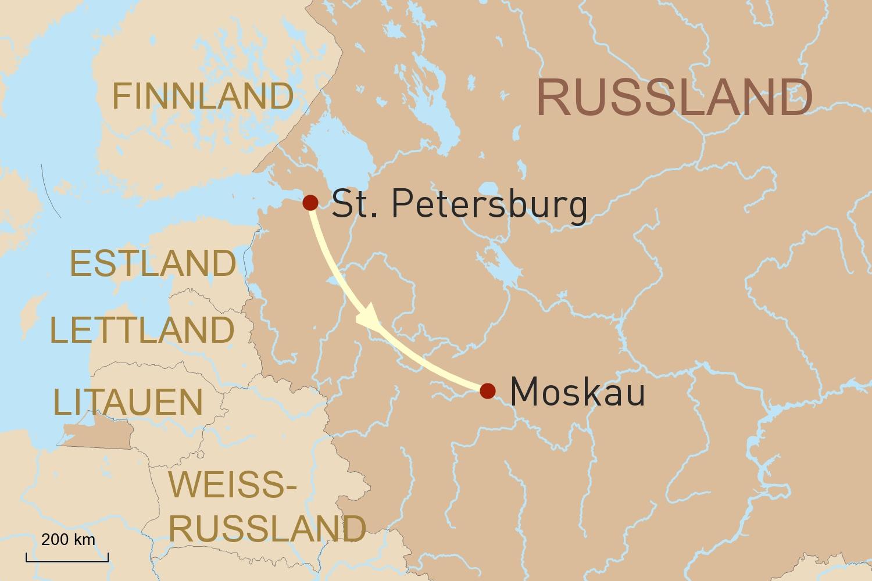 Russland: St. Petersburg, Moskau & Goldener Ring