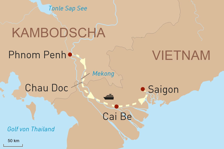 Mit der RV Mekong Pandaw in Kambodscha und Vietnam