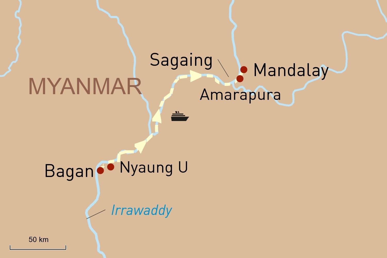 Flusskreuzfahrt in Myanmar auf der Sanctuary Ananda: Von Bagan nach Mandalay