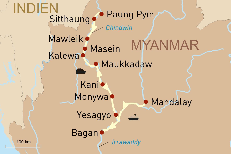 Myanmar Flusskreuzfahrt: Entdeckungsreise auf dem Chindwin mit der Sanctuary Ananda