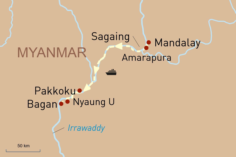 Irrawaddy Flusskreuzfahrt: An Bord der Sanctuary Ananda von Mandalay nach Bagan
