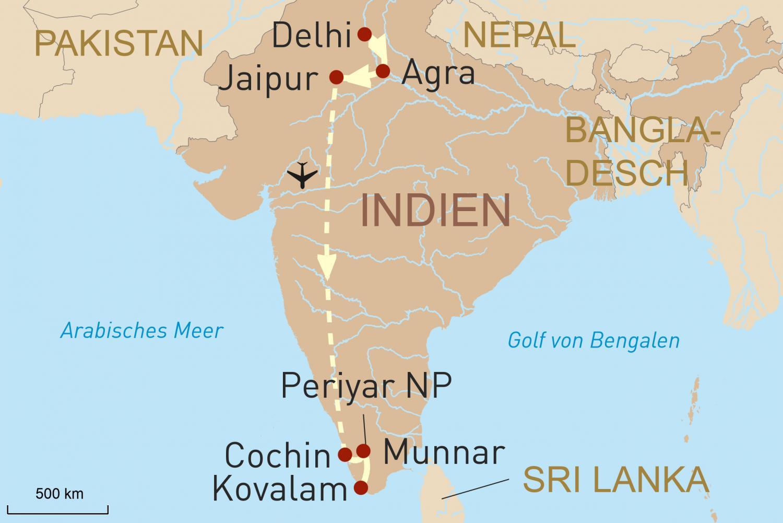 Schätze Indiens - Paläste, üppige Natur und Traumstrand