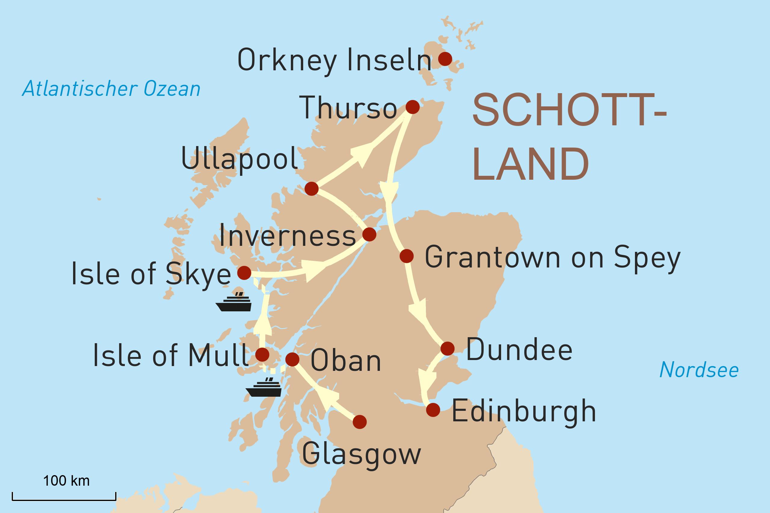 Schottland mit dem Mietwagen entdecken