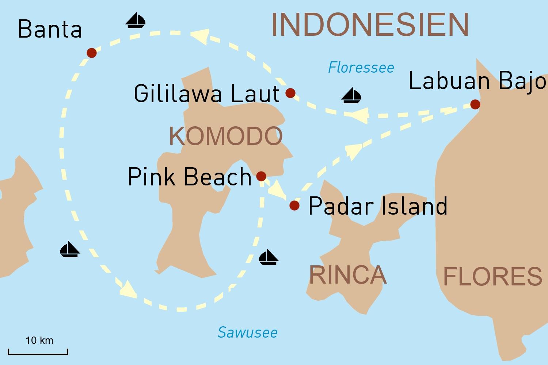 Segelkreuzfahrt Indonesien: Auf der Alila Purnama durch den Komodo-Archipel