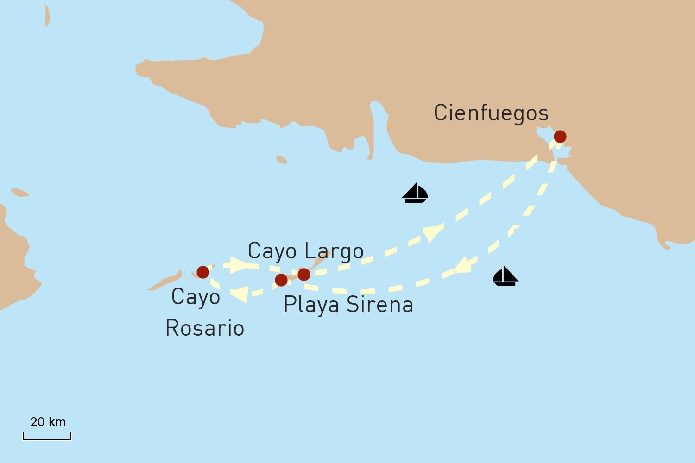 Segeltörn zu Kubas Traumstränden