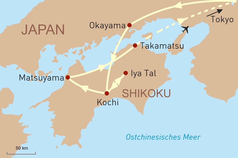 Shikoku - Japans unbekannte vier Provinzen