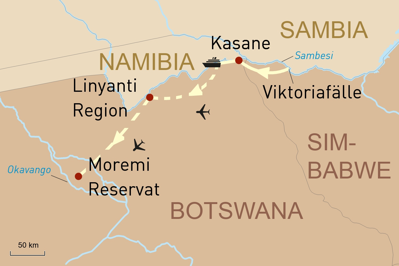 Simbabwe Botswana Reise: Die Viktoriafälle und Safari-Erlebnis in Botswana