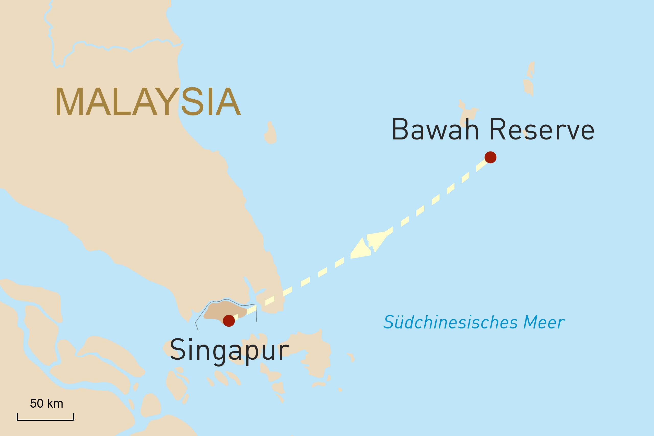 Singapur und Bawah Island