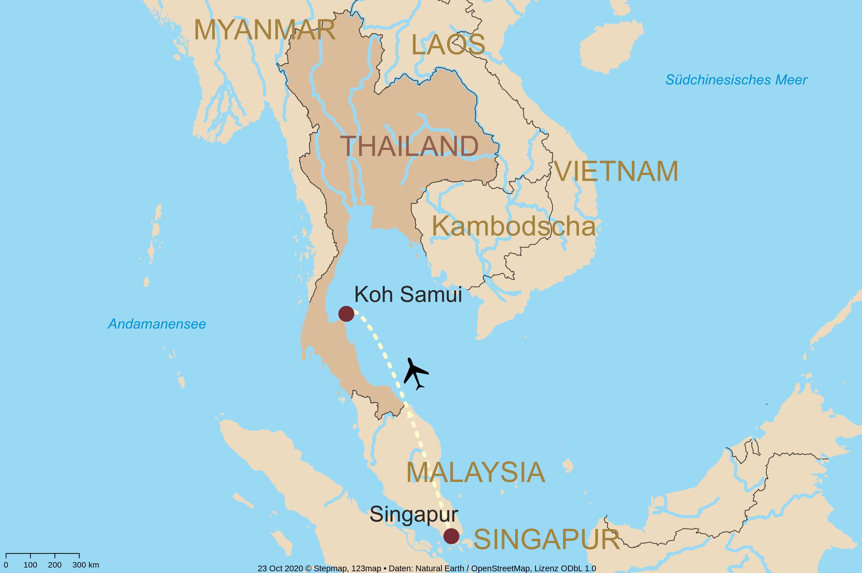 Singapur-und-Baden-Koh-Samui