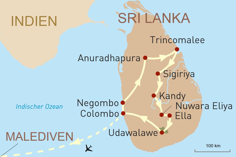 Sri Lanka & Malediven: Faszinierende Kultur und luxuriöse Entspannung