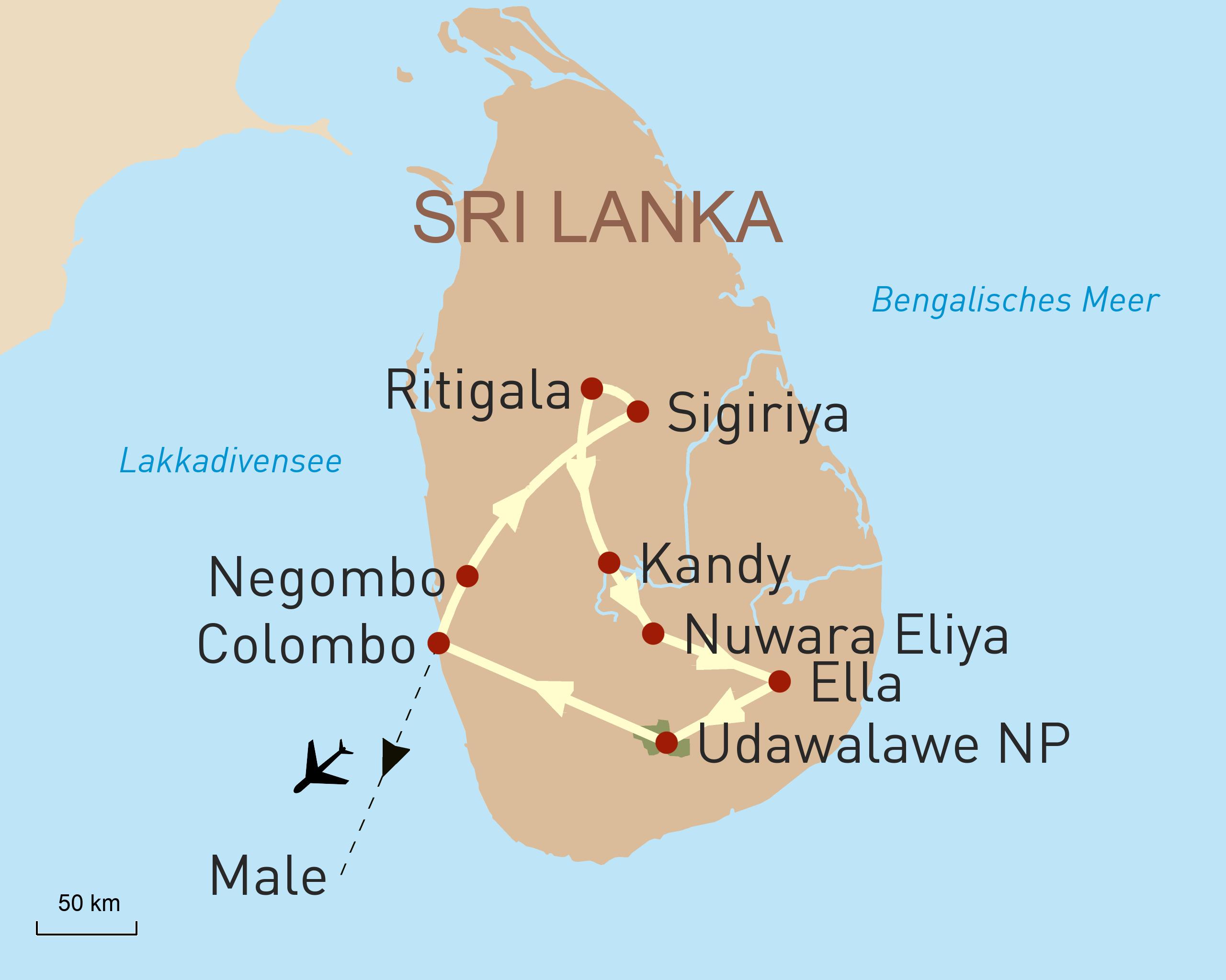 Sri Lankas Höhepunkte