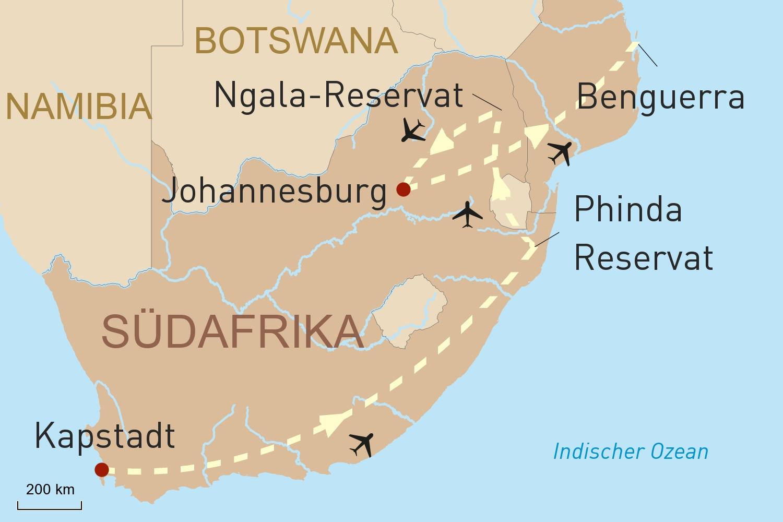 Südafrika Exklusiv - weltoffene Metropole & Wildnis
