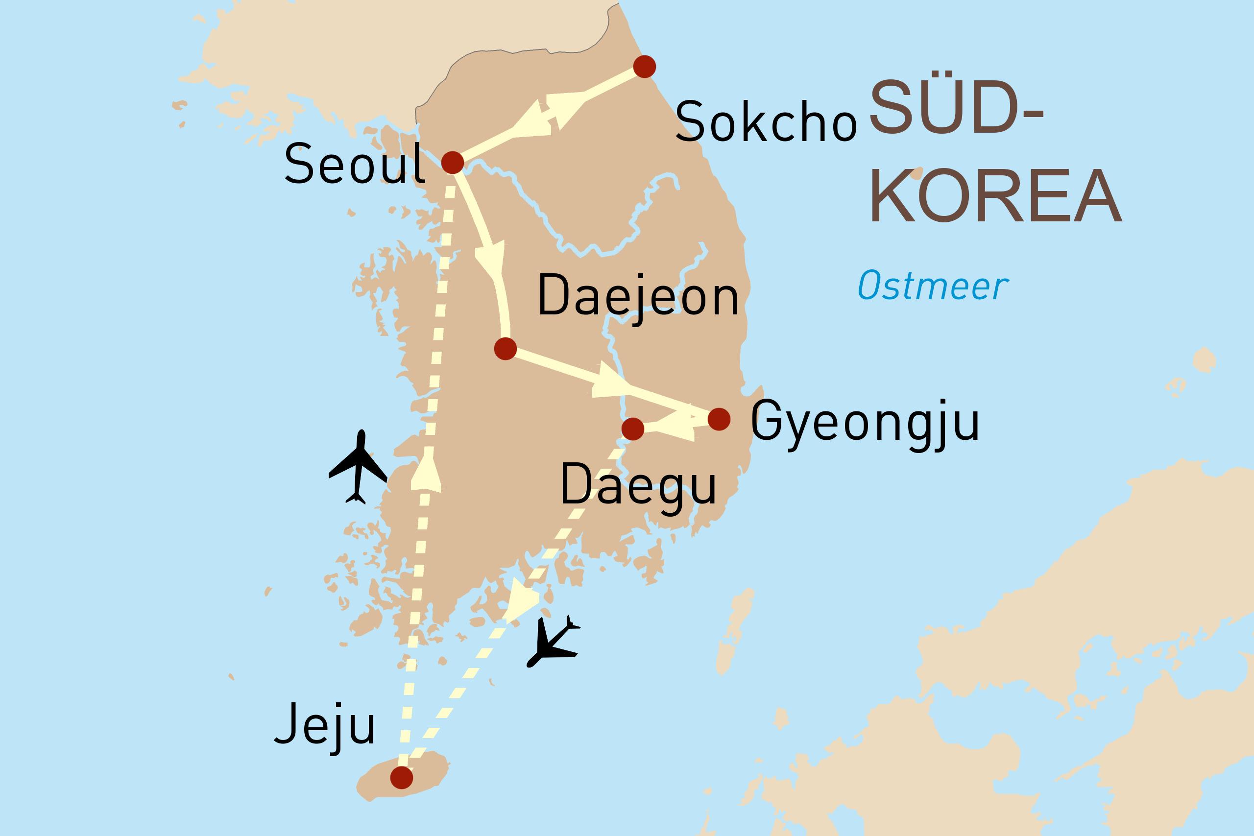 Südkorea aktiv entdecken