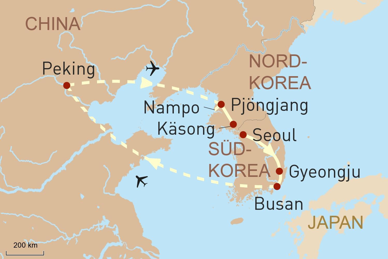 Südkorea und Nordkorea Reise - ein Kulturkreis, zwei Welten