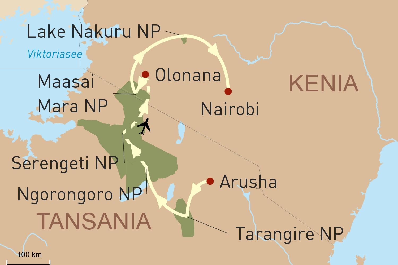 Privatreise Tansania und Kenia