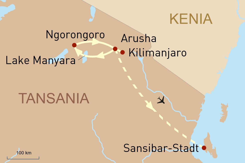Reise nach Tansania & Sansibar - Weite Natur & traumhafte Strände