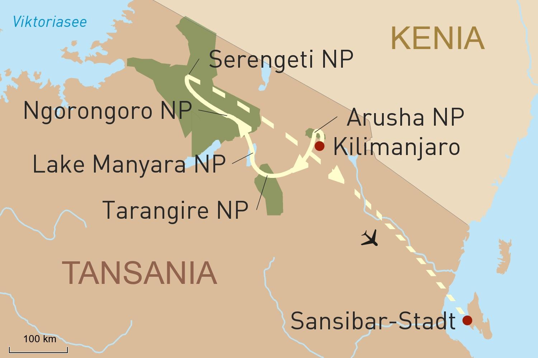 Reise in Tansanias beeindruckende Nationalparks & Trauminsel Sansibar