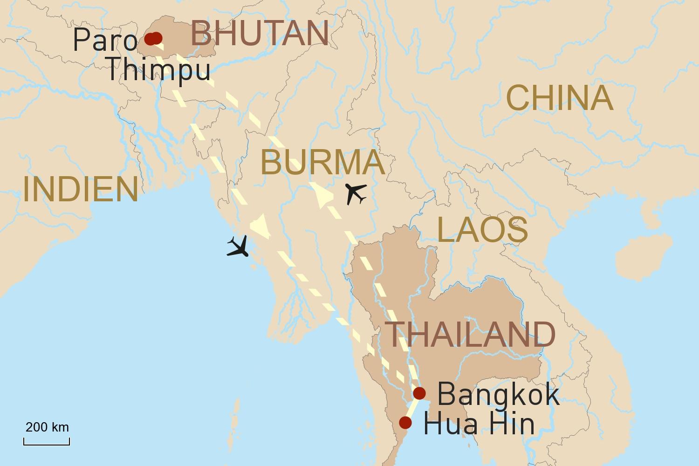 Thailand & Bhutan Reise: Gegensätze Asiens
