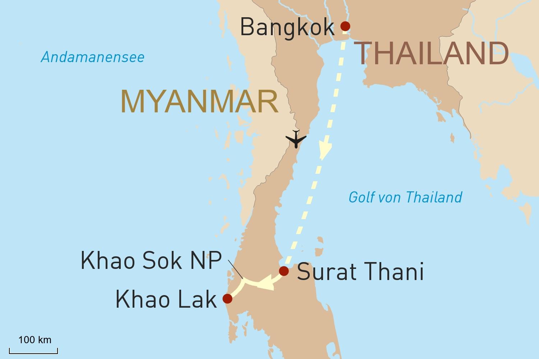 Thailand Reise: Citylight Bangkok, Dschungelerlebnis & Strandvergnügen