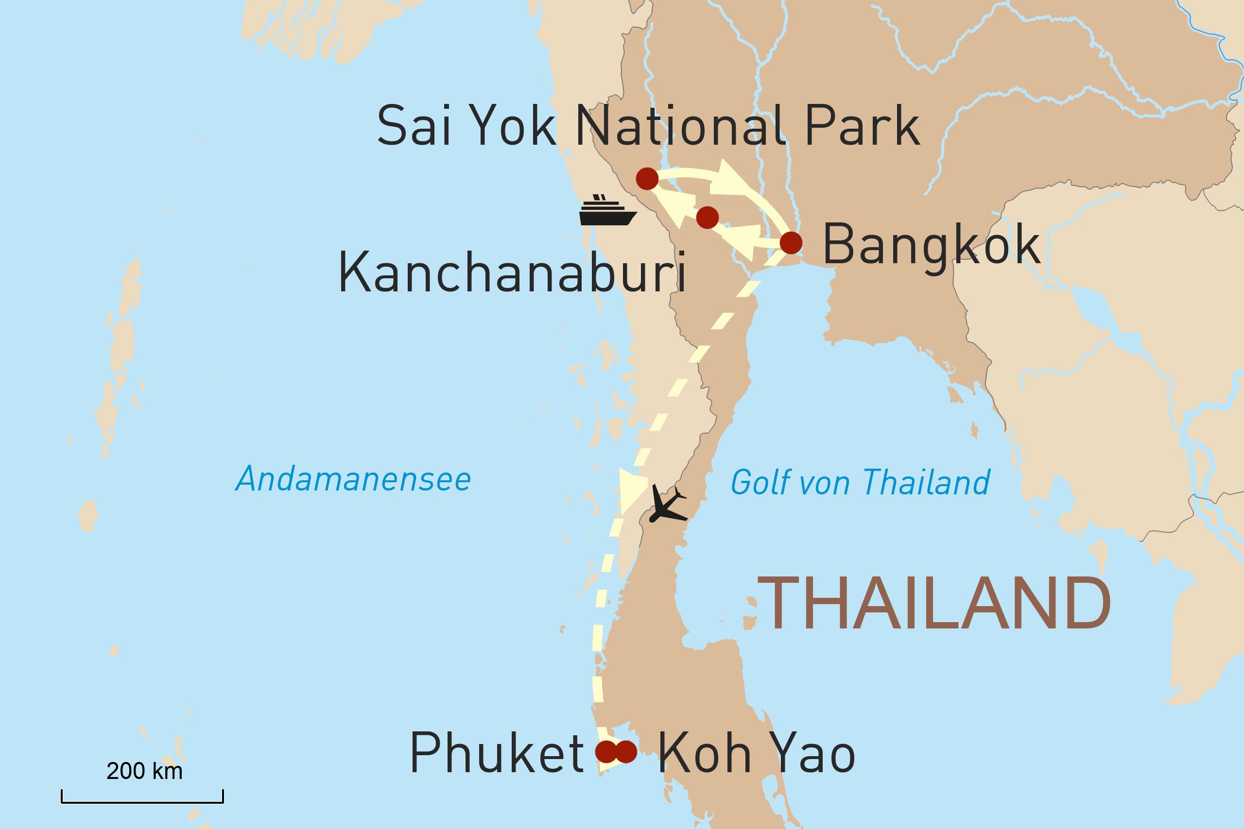 Thailand Kwai River Radtour