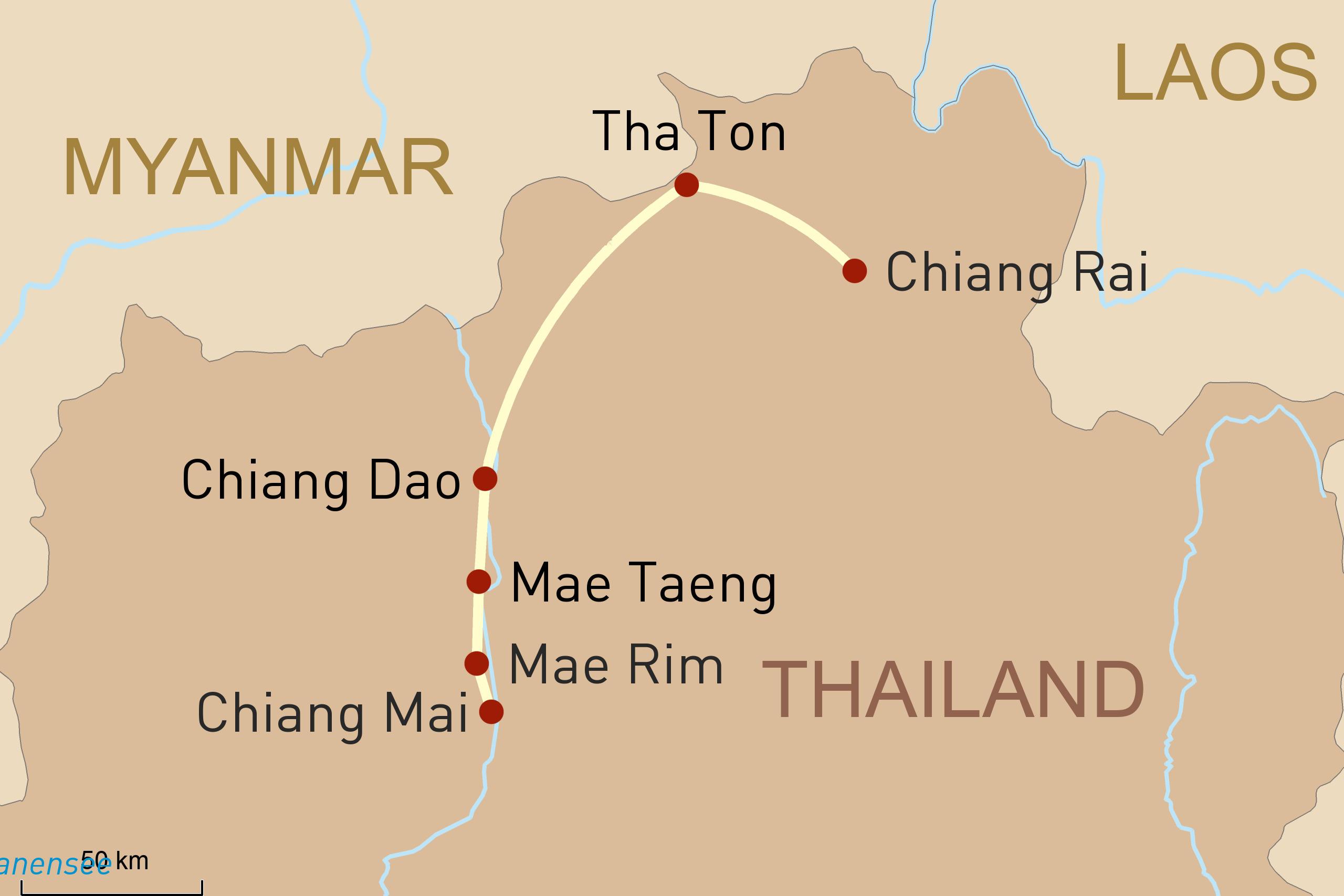 Thailand_Chiang Rai nach Chiang Mai