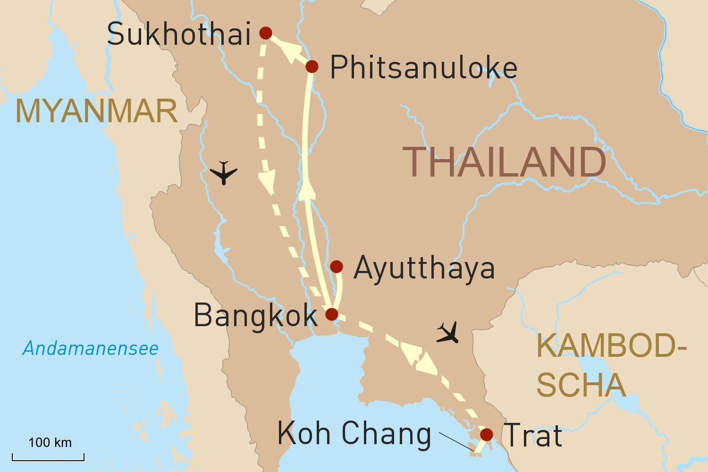 Thailands historische Königsstädte & Strandleben auf Koh Chang