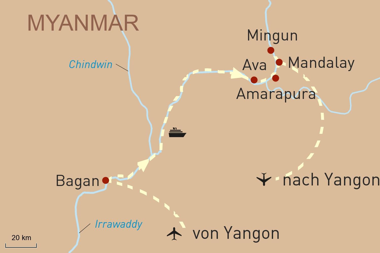 Myanmar Reise mit Flusskreuzfahrt: Yangon & The Strand Cruise