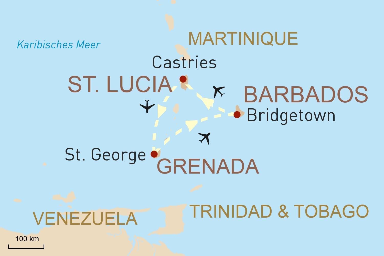 Traumhafte Karibik Reise: Barbados, St. Lucia & Grenada