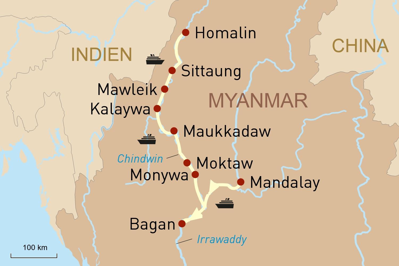 Unberührtes Myanmar: Mit der Anawrahta unterwegs auf dem Chindwin