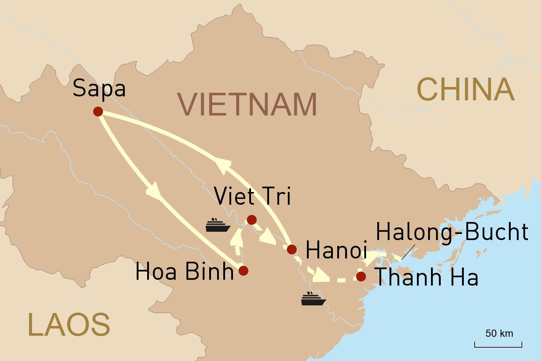 Vietnams grüner Norden und Kreuzfahrt auf dem Roten Fluss