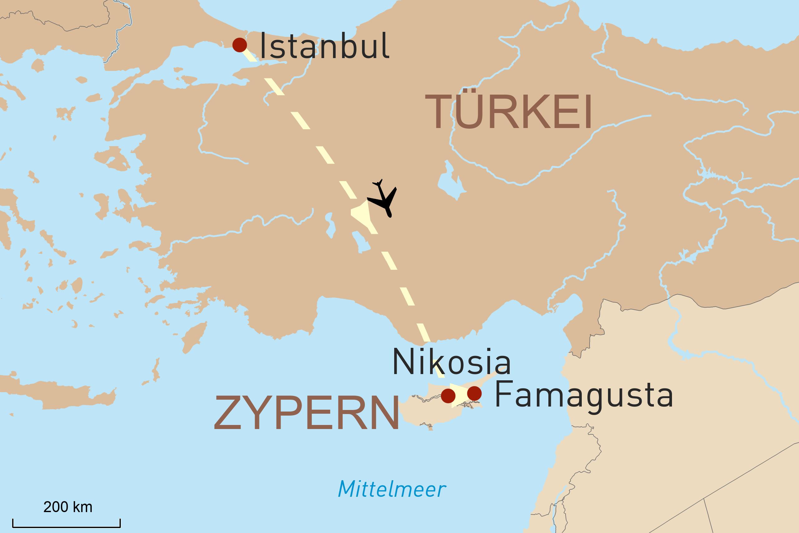 Landkarte für Von der türkischen Metropole zum Geheimtipp Nordzypern