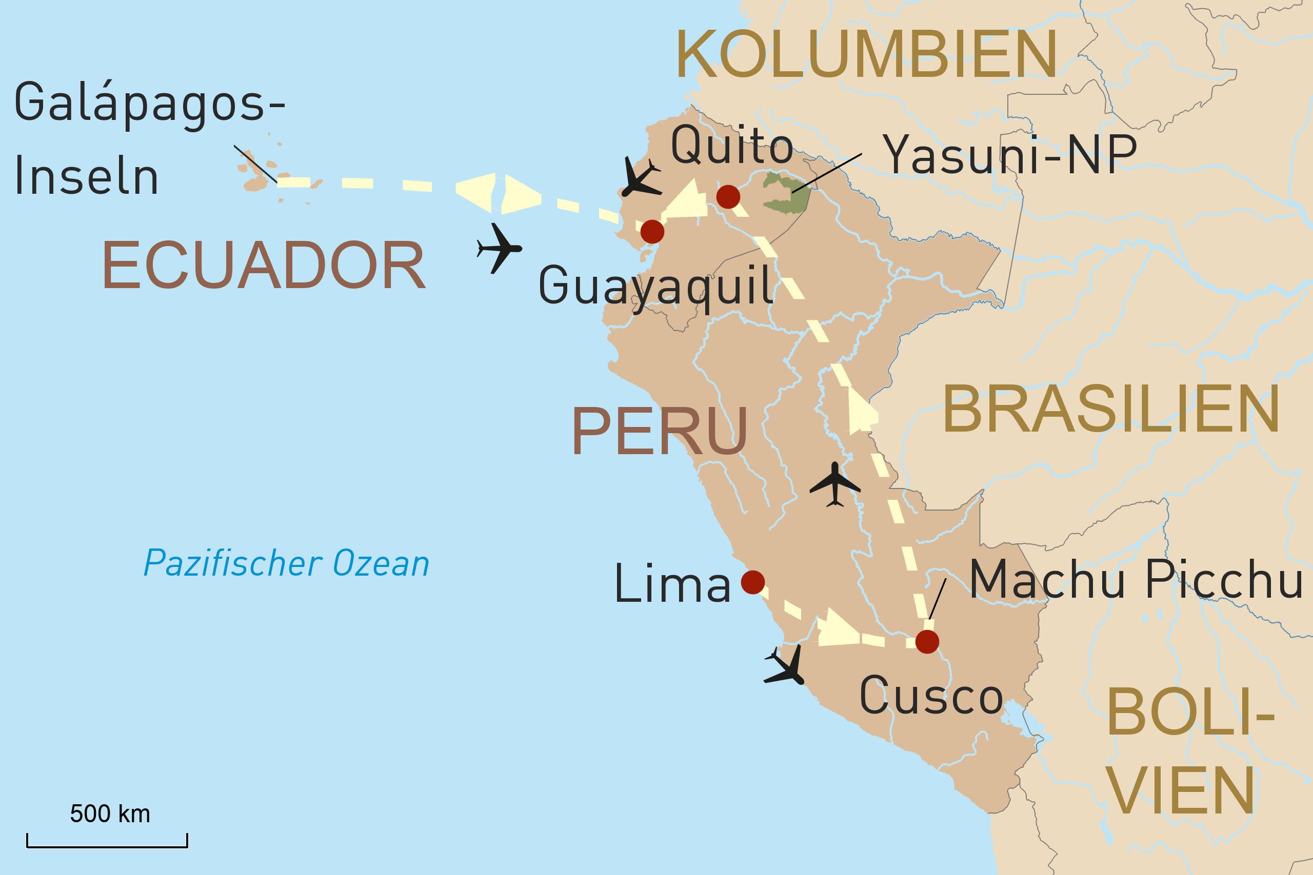 Von Machu Picchu zu den Galápagos-Inseln