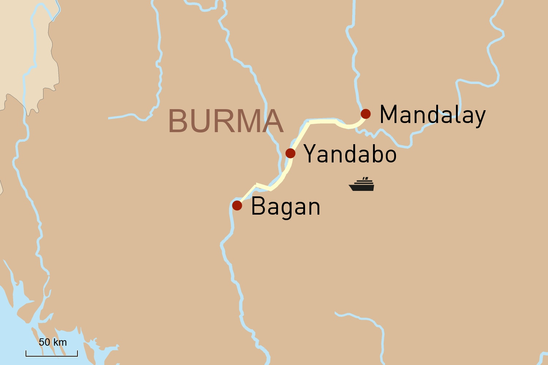 Flusskreuzfahrt in Myanmar auf der RV Paukan: Von Mandalay nach Bagan (2 Tage)