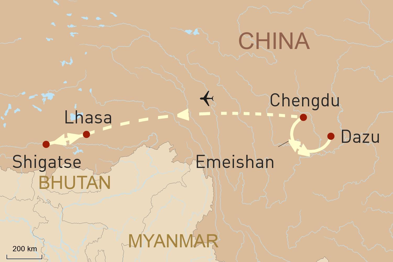 China Reise - Von Sichuan auf das Dach der Welt