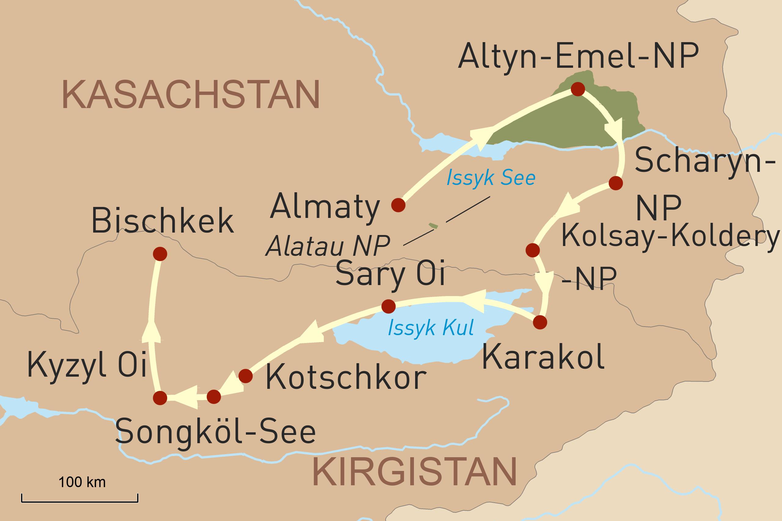 Wanderreise Kasachstan und Kirgistan