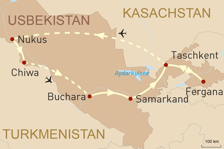 Usbekistans Wunder entlang der Seidenstraße