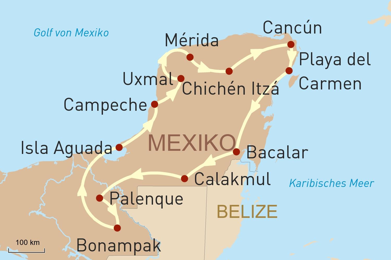 Mexiko: Yucatán und Chiapas für Selbstfahrer