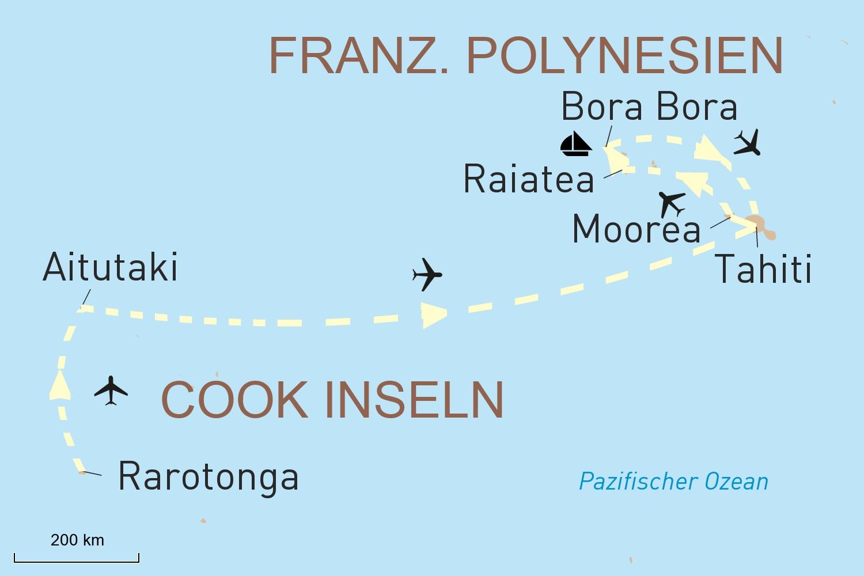 Zauberhafte Südsee Reise: Cook Inseln und Französisch Polynesien